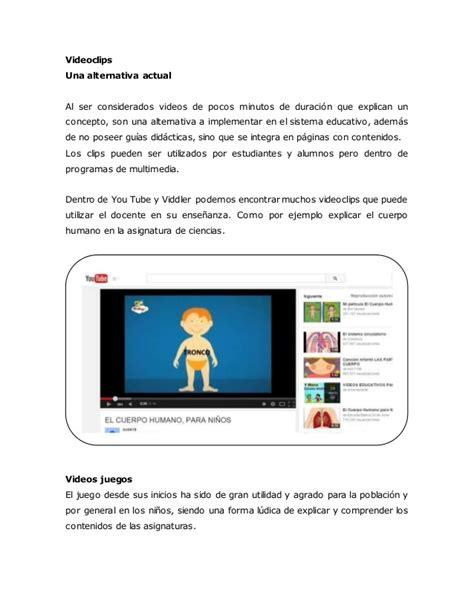 ci tutorial video videotutoriales videojuegos y videoclips para educaci 243 n