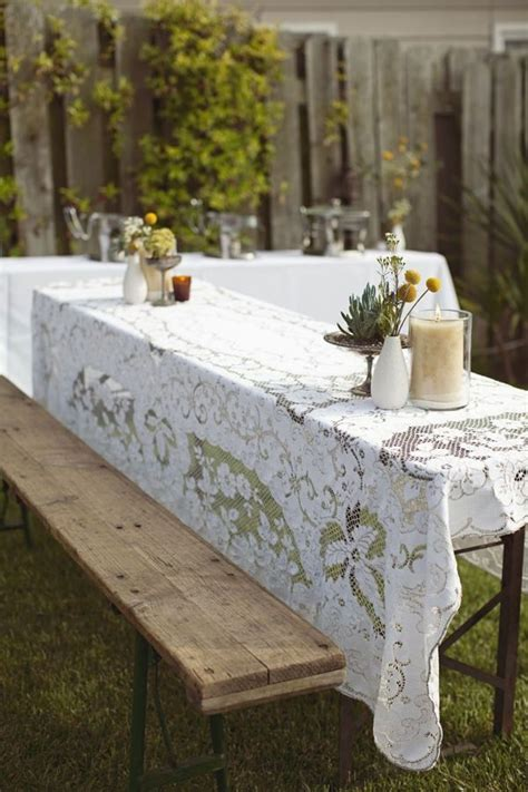 Lace Decor in 2019   Lovely Lace Wedding Ideas   Picnic