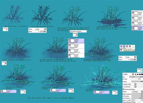paint tool sai water tool tutorial grass on water tutorial sai by kirimimi on deviantart