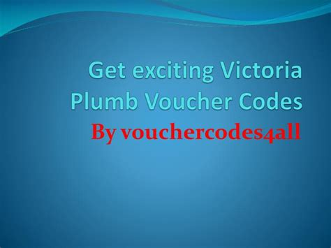 ppt get exciting plumb voucher codes powerpoint