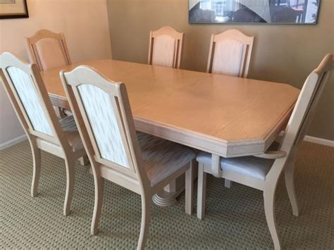White Dining Table And 6 Chairs White Oak Dining Room Table 6 Chairs China Cabinet