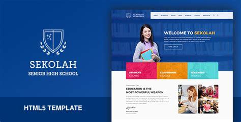 Sekolah Senior High School Html5 Template By Kenzap Themeforest School Website Templates Free Html5