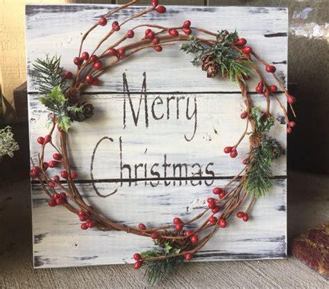 Weihnachtsdeko Garten Ideen 5690 by Rustic Winter Wood Pallet Sign W Berry Garland