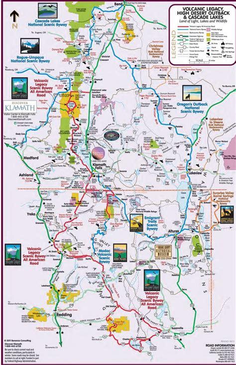 map of oregon klamath falls klamath falls area recreation map maplets
