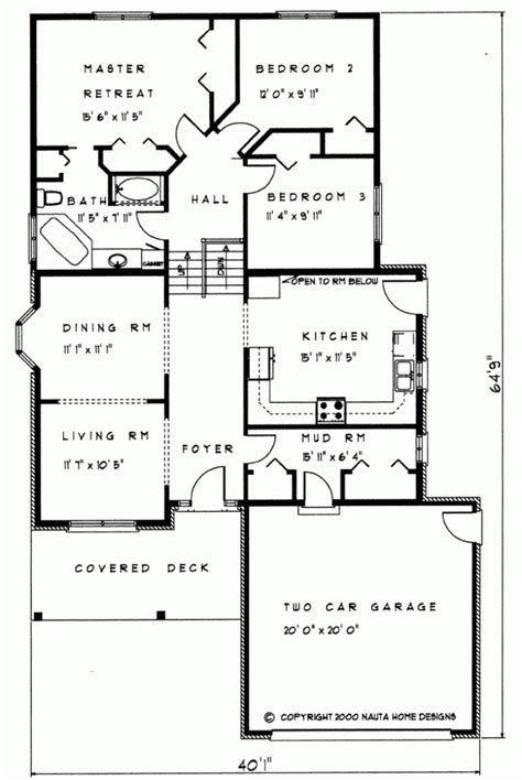 Back Split House Plans by 3 Bedroom Backsplit House Plan Bs108 1477 Sq