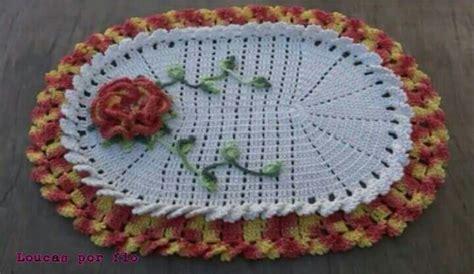 tapete de croche bico duplo elo7 pictures to pin on pinterest tapete oval bico duplo em croch 234 loucas por fio arte