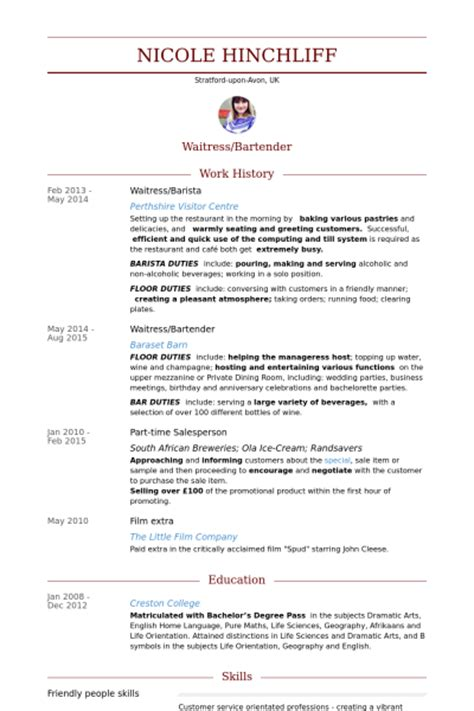 sle resume for barista position barista resume sles visualcv resume sles database