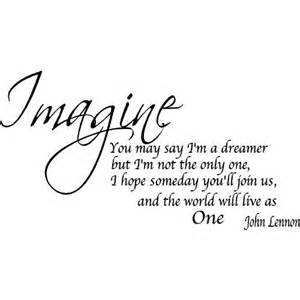 Song Lyric Wall Stickers amazon com quote it imagine removable wall quote john