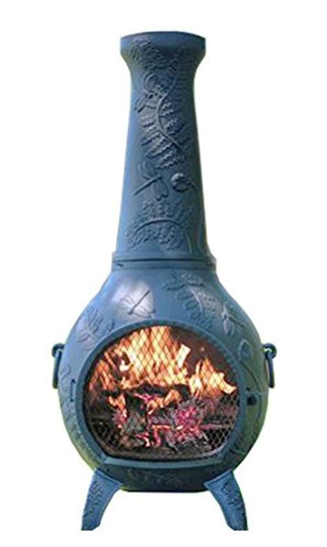 Designer Chiminea Chiminea Outdoor Fireplace Wood Burning Dragonfly Design