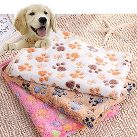 cooling blanket for dogs beesclover large small pet soft paw print fleece blanket for dogs puppy cat guinea pig