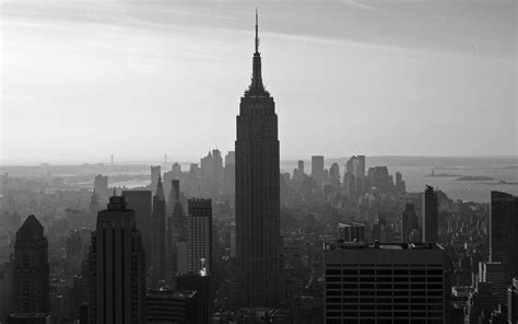 wallpaper black and white buildings new york full hd wallpaper and background image