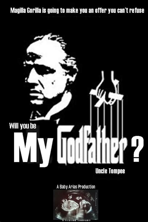 will you be my godfather poster bapteme pinterest