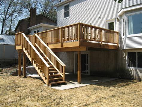 backyard contractors new deck patio retaining wall patio st louis by benhardt construction