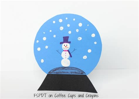 snow globe craft for snowman snow globe craft coffee cups and crayons