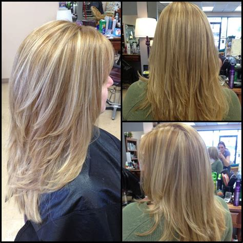 hairstyles layers with blended highlights lowlights layered haircut highlights lowlights dimension hair