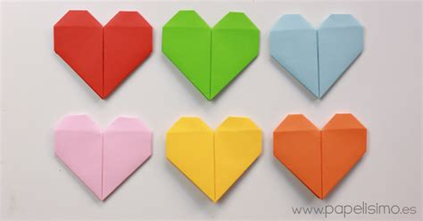 San Origami - coraz 243 n de papel tarjeta de san valent 237 n origami papelisimo