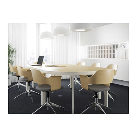 Ikea Conference Table And Chairs Bekant Conference Table Birch Veneer White 280x140 Cm Ikea