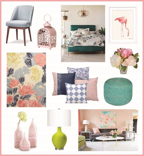 pastels and florals in home decor pj company staging