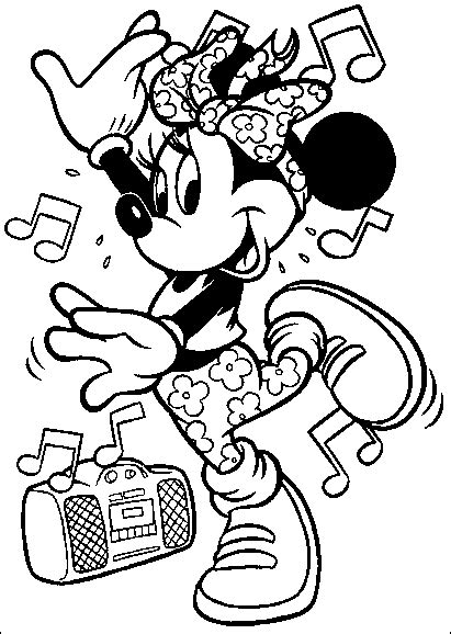 world music coloring pages coloriage disney minnie musique coloriages disney