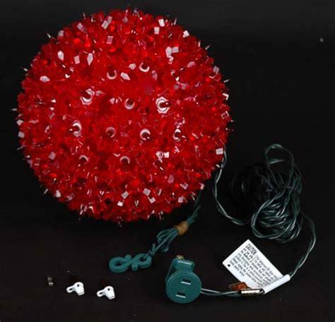 7 5 quot starlight sphere 100 light red christmas lighted ball