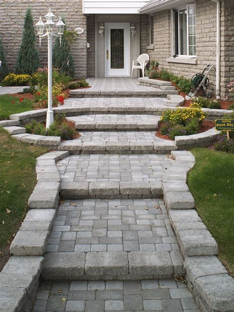 concrete paver walkway and entrance with steps walk this way pinterest the smalls posts