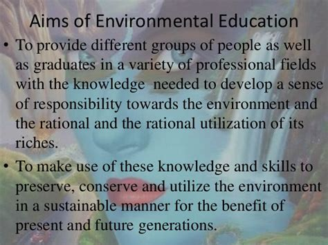 thesis about environmental education importance of environmental education essay exle
