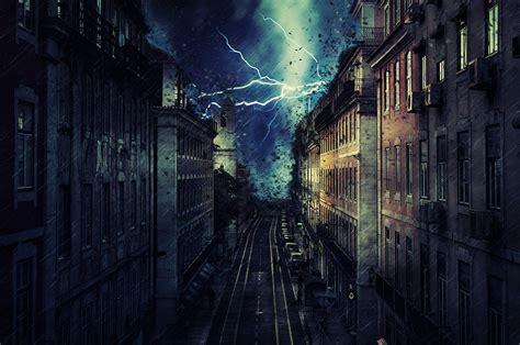 wallpaper awan petir gambar hujan badai gambar animasi android download gratis