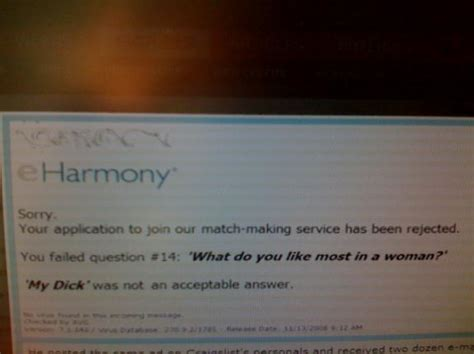 Rejected By Eharmony by Eharmony Rejection Letter Picture Ebaum S World