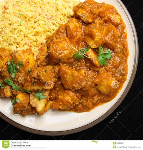 indian curry dinner indian chicken curry food dinner royalty free stock photos