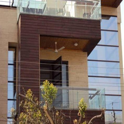exterior facade teak wood cladding rs  square feet