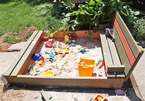 sandbox with benches how to build a sandbox 17 diy plans guide patterns