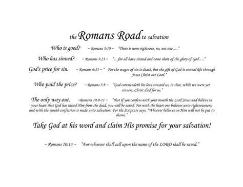 printable romans road roman road to salvation printable romans road roman