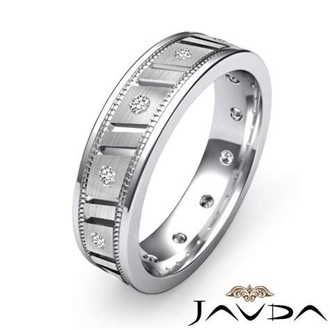 bezel eternity ring mens wedding solid band