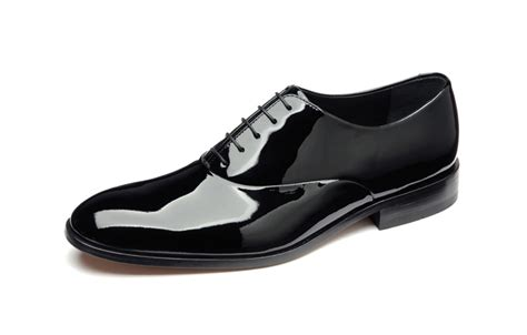 loake black patent leather shoes 163 115