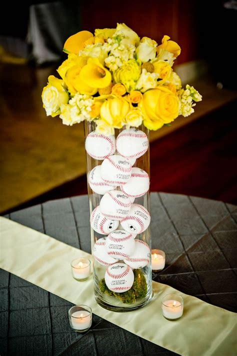 baseball wedding centerpiece idea baseball wedding