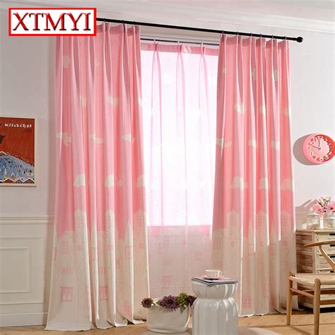 pink kids curtains kids cartoon curtains for bedroom girls pink blue window