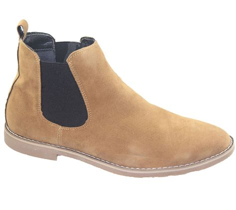 Faux Suede Shoe Boots mens chelsea boots faux suede office casual dress desert
