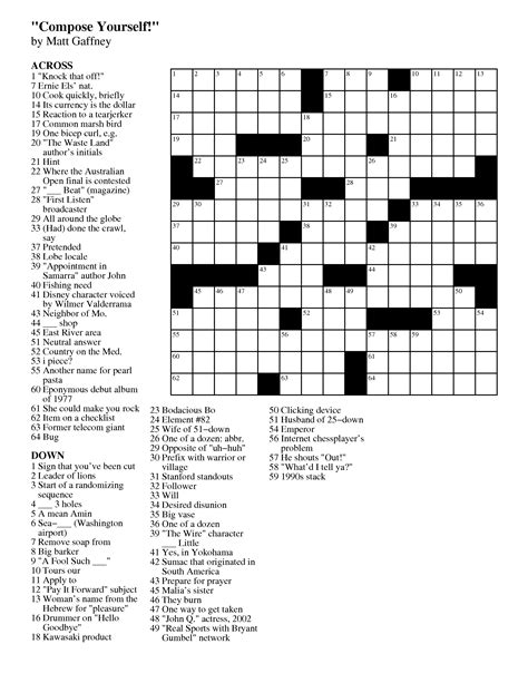 highly recommended film crossword november 2012 matt gaffney s weekly crossword contest