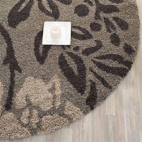 safavieh ultimate smoke dark brown shag rug