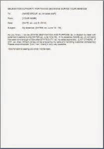 Sample template example of authority delegation declaration letter