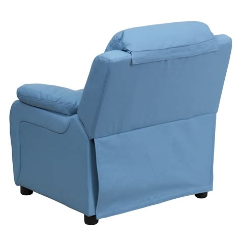 light blue recliner flash furniture deluxe heavily padded contemporary light