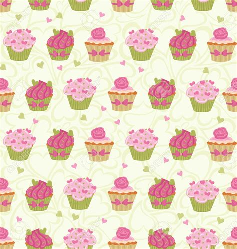 cupcake wallpaper pinterest 17766358 seamless pattern made of cupcakes and hearts