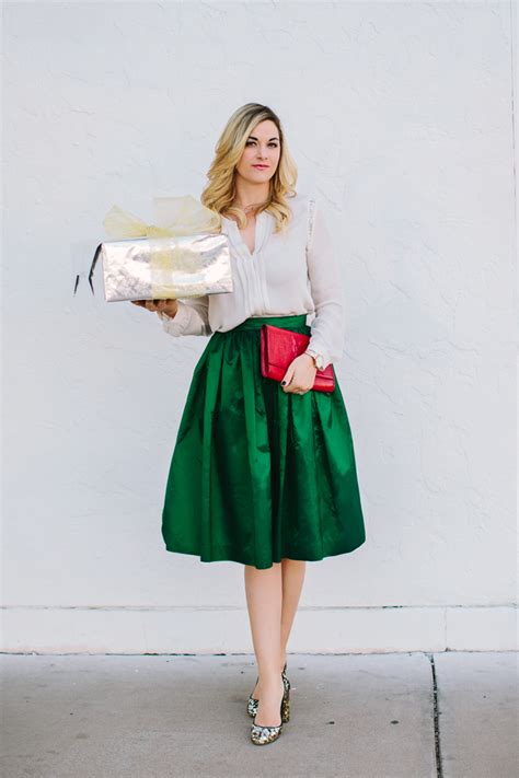 when did xmas skirts appear green midi skirt dash of