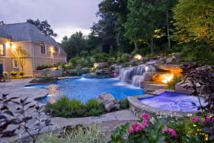 Backyard Landscaping With Pool Swimming Pool Designs Landscape Architecture Design Nj