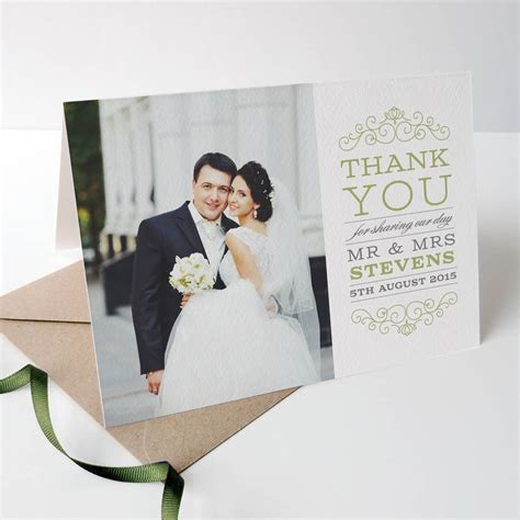 wedding photo thank you card template free the ultimate guide to wedding thank you notes and etiquette