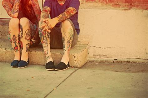 tattoo couples photography couple hipsters indie photography tattos image