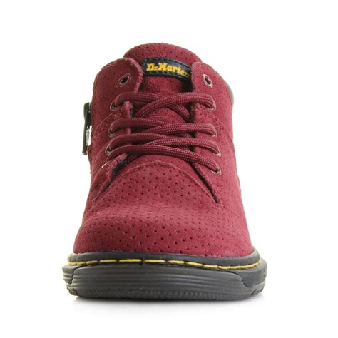 dr martens j perforated suede leather