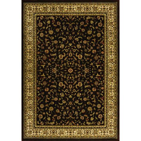 Natco Area Rugs Natco Sapphire Sarouk Chocolate 7 Ft 10 In X 11 Ft 2 In
