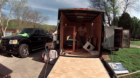 Rv Floor Plan by Intro To My 6x10 Enclosed Trailer Conversion Project Youtube
