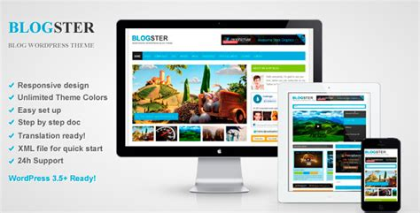 theme wordpress video responsive blogster responsive blog wordpress theme by